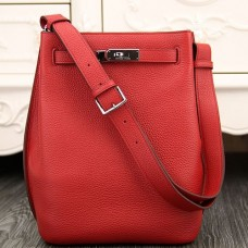 Hermes So Kelly 22cm Bag In Red Leather
