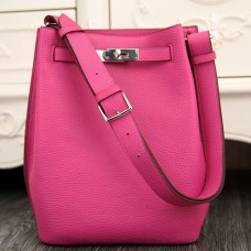 Hermes So Kelly 22cm Bag In Rose Red Leather