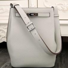 Hermes So Kelly 22cm Bag In White Leather