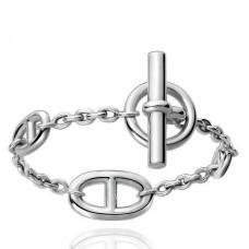 Hermes LG Sterling Silver Farandole Bracelet