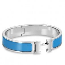 Hermes Blue Enamel Clic H PM Bracelet