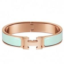 Hermes Aqua Enamel Clic H PM Bracelet