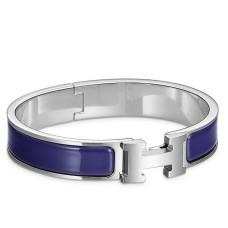 Hermes Blue Electric Enamel Clic H PM Bracelet