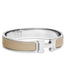 Hermes Etoupe Enamel Clic H PM Bracelet