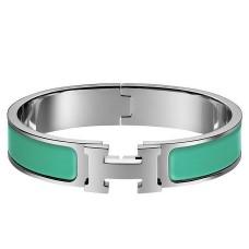 Hermes Green Enamel Clic H PM Bracelet