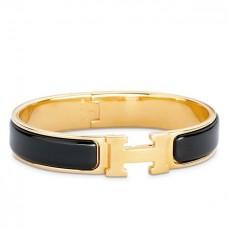 Hermes Black Enamel Clic H PM Bracelet