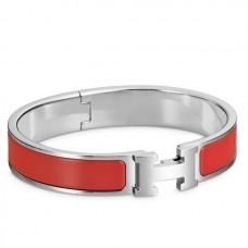 Hermes Red Enamel Clic H PM Bracelet