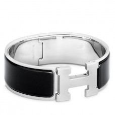 Hermes Black Enamel Clic Clac H PM Bracelet