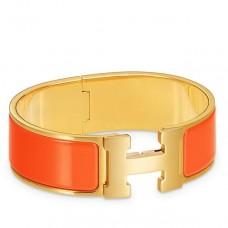 Hermes Orange Enamel Clic Clac H PM Bracelet