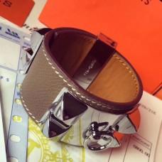 Hermes Etoupe Epsom Collier de Chien Bracelet Size S