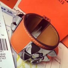 Hermes Orange Epsom Collier de Chien Bracelet Size S