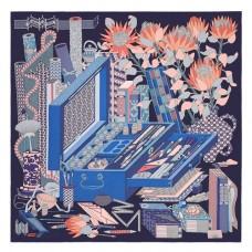 Hermes Caban Les tresors d'un Artiste Silk Scarf