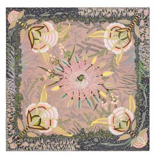 Hermes Jaune Flowers of South Africa Silk Scarf