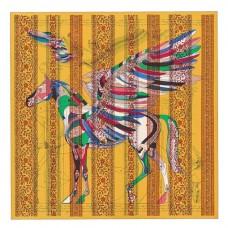 Hermes Yellow Le Pegase d'Hermes au Bloc Shawl