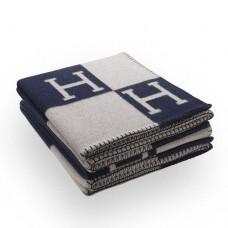 Hermes Dark Blue Avalon Blanket