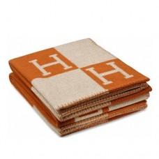 Hermes Orange Avalon Blanket