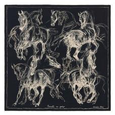 Hermes Black Pirouette au Galop Shawl