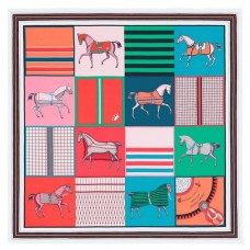 Hermes Green Couvertures Nouvelles Giant Scarf