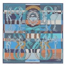 Hermes Blue Della Cavalleria Shawl