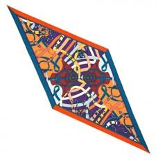 Hermes Orange/Blue Cavald'or Losange