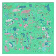 Hermes Green Les Confessions Shawl