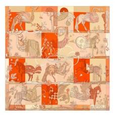 Hermes Beige Della Cavalleria Favolosa Silk Twill Scarf