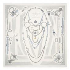 Hermes Blanc Etude pour une Parure de Gala Scarf