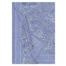Hermes Blue Fleurs Et Papillons De Tissus Bandana