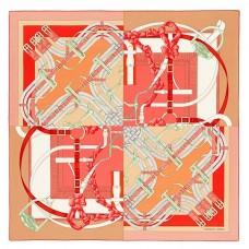 Hermes Pink Grand Manege A Jouets Shawl 140cm