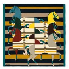 Hermes Yellow Rocabar Shawl 140cm