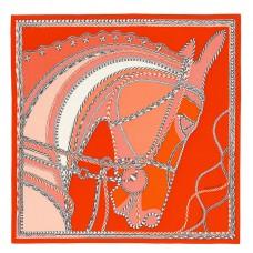 Hermes Piment Robe Du Soir Shawl 140CM