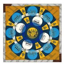 Hermes Yellow Jeu des Omnibus Remix Shawl 140