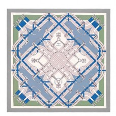 Hermes Blue Mors à Jouets Silk Shawl