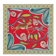 Hermes Red Savana Dance Shawl