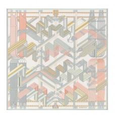 Hermes Blanc Sangles en Zigzag Silk Scarf