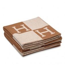 Hermes Brown Avalon Blanket