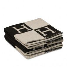 Hermes Black Avalon Blanket