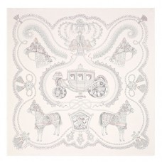 Hermes Creme Paperoles Silk Twill Scarf