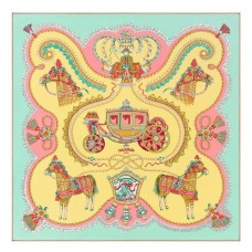 Hermes Soufre Paperoles Silk Twill Scarf