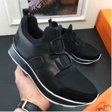 Hermes Men Black Player Sneakers