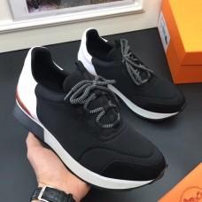 Hermes Men Noir Miles Sneakers