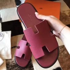 Hermes Izmir Sandals In Fuchsia Epsom Leather