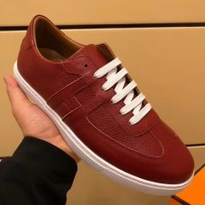 Hermes Olympic Sneakers In Red Leather