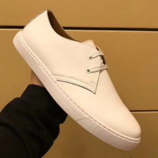 Hermes One Sneaker In White Leather