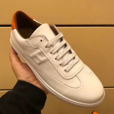 Hermes Quicker Sneaker In White Leather