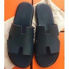 Hermes Navy Blue Epsom Izmir Sandals
