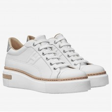 Hermes White Polo Sneakers