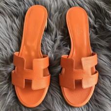 Hermes Orange Epsom Oasis Sandals