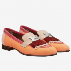 Hermes Royal Loafers In Multicolour Suede