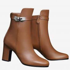 Hermes Brown Joueuse Ankle Boots